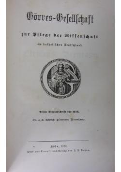 Gorres-Gesellschaft, 1878r.