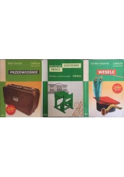 Lektury z opracowaniem, zestaw 3 książek