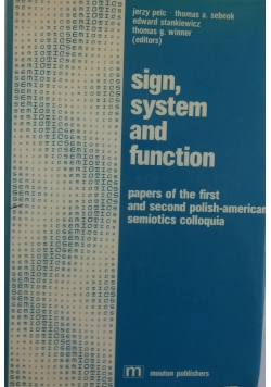 Sign, system and function