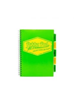 Project Book Neon A4/100 kr zielony (3szt) PUKKA