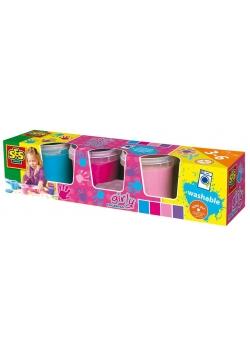 Farby do malowania palcami - 4 kolory dziewczęce