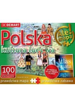 Puzzle: Polska-kultura ludowa+atlas