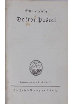 Doftor Pascal, ok. 1925 r.