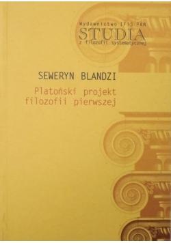 Platoński projekt filozofii pierwszej