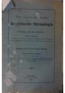 Aegyptische Chronologie, 1896r.