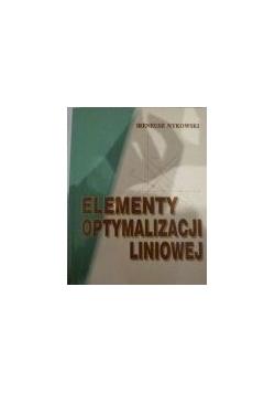 Elementy optymalizacji liniowej