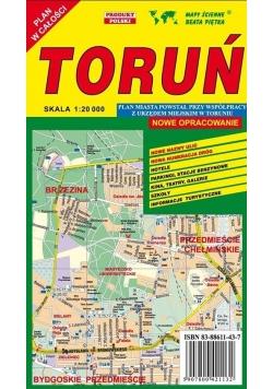 Toruń 1:20 000 plan miasta PIĘTKA
