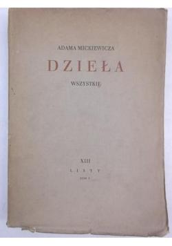 Mickiewicz Adam - Dzieła wszystkie, Tom XIII, Listy, cz I, 1936 r.