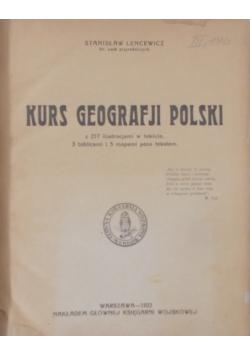 Kurs geografji Polski, 1922r.