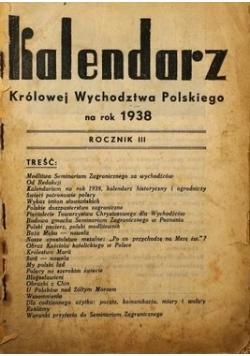 Kalendarz Królowej Wychodztwa Polskiego na rok 1938