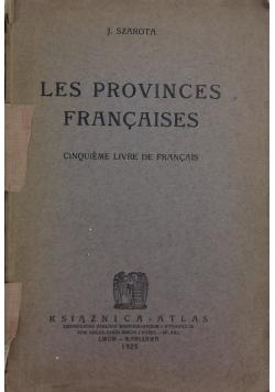 Les provinces francaises, 1925 r.