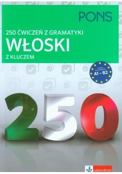250 ćwiczeń z gramatyki Włoski z kluczem