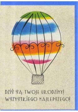 Karnet B6 Urodziny. Balon
