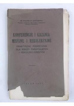 Konferencje i kazania misyjne i rekolekcyjne, 1937 r.