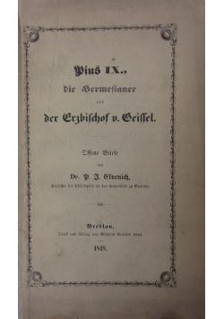 Pius IX., die Sermesinner und der Erzbischof von Geissel. 1848 r.