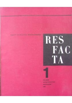 Res facta. Teksty o muzyce współczesnej 1/1967