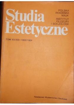 Studia Estetyczne, tom XX/XXI - 1983/1984