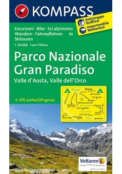 Park Narodowy Gran Paradiso Dolina Aosty mapa