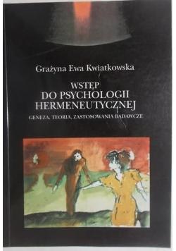Wstęp do psychologii hermeneutycznej