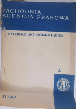 Materials and Commentaries