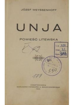Unja. Powieść Litewska, 1925 r.