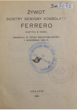 Żywot siostry Benigny Konsolaty Ferrero, 1921 r.