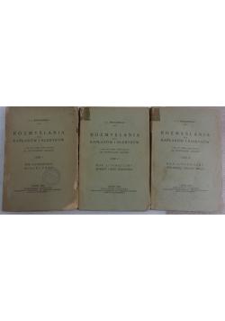 Rozmyślania dla kapłanów i kleryków. Zestaw 3 książek. 1938 r.
