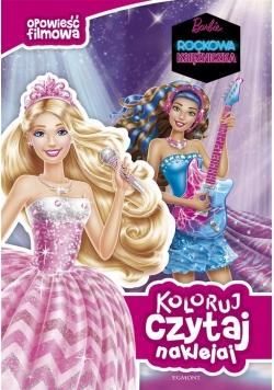 Koloruj, czytaj, naklejaj. Barbie rockowa ...