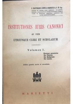 Institutiones Iuris Canonici volume I, 1950 r.