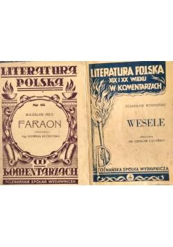 Literatura Polska. Wesele/Faraon, 1946 r.