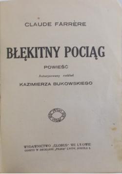 Błękitny pociąg, 1926 r.