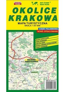 Okolice Krakowa Połud. 1:67 000 mapa turystyczna