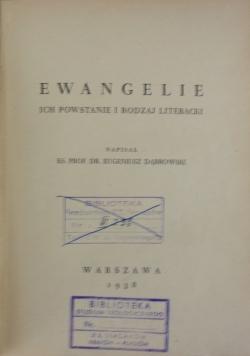Ewangelie. Ich powstanie i rodzaj literacki, 1938
