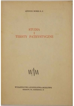Studia i teksty patrystyczne