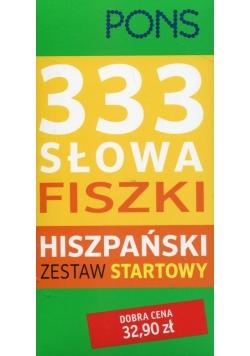 PONS Fiszki 333 słowa hiszpański Zestaw startowy