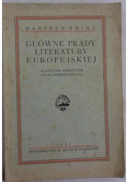 Główne prądy literatury Europejskiej, 1931 r.
