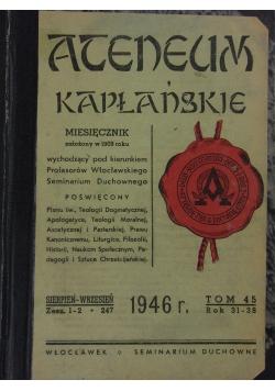 Anentum kapłańskie, 1946r.