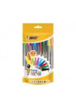 Długopis Cristal Multicolor pouch 20 sztuk
