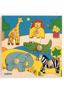 Drewniane puzzle - Zwierzątka Safari