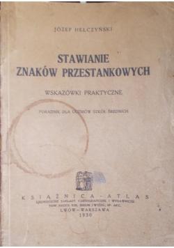 Stawianie znaków przestankowych, 1930r.