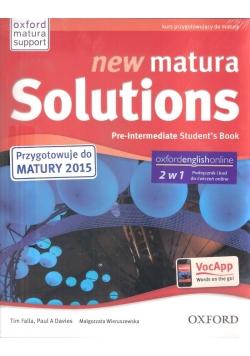 Matura Solutions N Pre-inter.2E SB+Exam Broch&E-WB