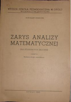 Zarys analizy matematycznej