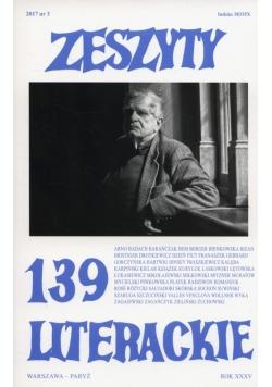 Zeszyty literackie 139/3/2017