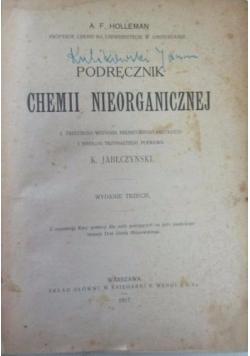Podręcznik chemii nieorganicznej, 1928 r.