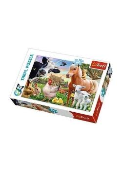 Puzzle 60 Wesoła farma TREFL
