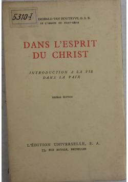 Dans L'Esprit du Christ, 1934 r.