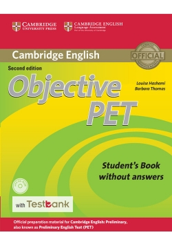 Objective PET Student's Book without Answers with CD-ROM with Testbank