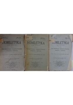 Homiletyka pismo miesięczne  3 zeszyty, 1910 r.
