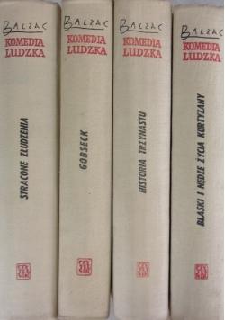 Komedia ludzka, zestaw 4 książek.