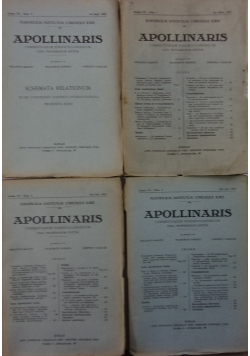 Apollinaris I-IV, 1934r.